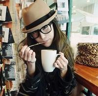 fashion new arrival adult unisex straw fedora hat & cap jazz hat  women's cap male cap bowtie felt cap 2 Colors free shipping