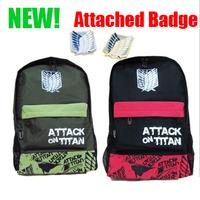 FREE SHIPPING new arrivals Attack on Titan Giant school bag Allen long waist pack shoulder bag cool bag backpack japan hot