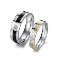 OPK JEWELRY promotion stainless steel couple finger ring fashion cool design love gift  women size 5 to 9, men size 7 to 15, 145
