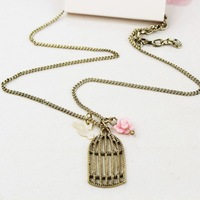 12Pcs/Lot  Accessories fashion female short design chain beautiful fashion flower necklace Free shipping A040