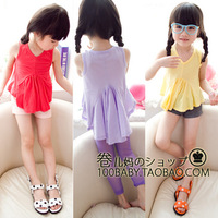 Multicolor summer female child tank dress