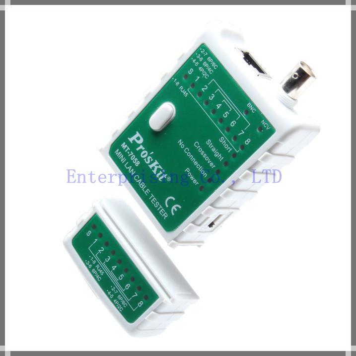 RJ45 RJ11 BNC Cable Test Meter Mini Lan Cable Tester(China (Mainland))
