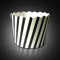 Black and white stripe cupcake Liners Packaging food box Cupcake baking supplies
