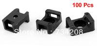Black Plastic 9mm Wire Buddle Cable Tie Mount Saddle 100pcs