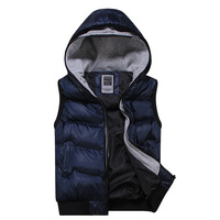 2013 male vest with a hood lovers vest down cotton waistcoat men's clothing outerwear