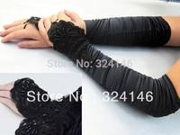 cheap New design black Bridal gloves Wedding Gloves fingerless gloves wholesale