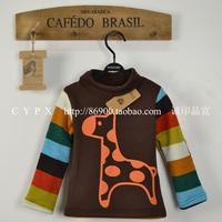 Winter male child color rabbit fur velvet compound velvet thickening basic shirt