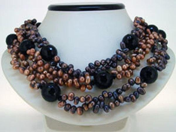 Elegant Pearl Jewelry Freshwater Pearl Necklace(China (Mainland))