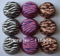 300pcs ASSORTTED 3 COLORS 100PCS EACH zebra print  cupcake liners baking cup bakeware