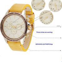 The genuine leather quartz watch watches luxury quality goods  men watches new designer rose gold watches