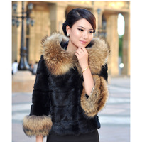 2013 raccoon fur hat rabbit fur coat