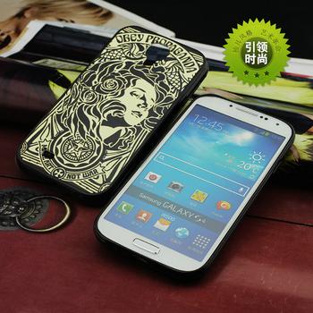 For Samsung Galaxy S4 case obey NOUVEAU BLACK hard TPU mix PC phone cover ZC1598 Wholesale Retail
