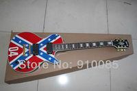 Best Price wholesale new GorE electric guitar the rebel mdoel Confederate Guitars rebel flag guitar EMG pickup free shipping