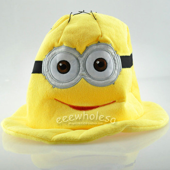 Despicable me milk small plush hat qt2214 soft doll plush stuffed action figure toys