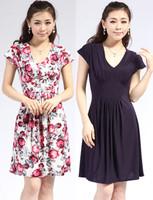 free shipping 2013 summer plus size one-piece dress milk, silk V-neck slim princess dress viscose dress women's