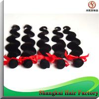 Wholesale Factory Unprocessed Peruvian Hair 5PCS/LOT  50G/PCS Body Wave Peruvian Virgin Hair Weaving Natural Color