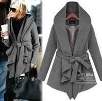 2013nibbuns normic fashion casual fashion medium-long Dark gray black