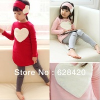 Free Shipping New Arrival Hot Sale High Quality Autumn Girl Set 3pcs Cute Girl's Set Fashion Children's Set 5set/lot Instock