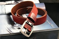 2013 New arrive 40in high quality genuine leather belt with steel head/for man/Genuine leather men belt