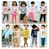 2013 children's clothing sets child underwear child baby long johns sleepwear lounge twinset