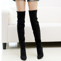 womens high heel boots, Over The Knee Boots For Women Scrub Upper Stretch Fabric Slim Boots free shipping,M0021