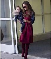 2014 new autumn Fashion star Victoria style long sleeve dress ; women casual dresses ; women's plus size novelty vestidos saia