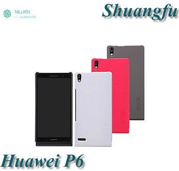 Nillkin Design Huawei Ascend P6 Case,Super Shield Shell Hard Case For Huawei Ascend P6+screen film,Free Shipping HW001