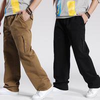 Free shipping Plus size male trousers 2013 autumn and winter large waist cotton overalls fat pants loose casual pants 6xl