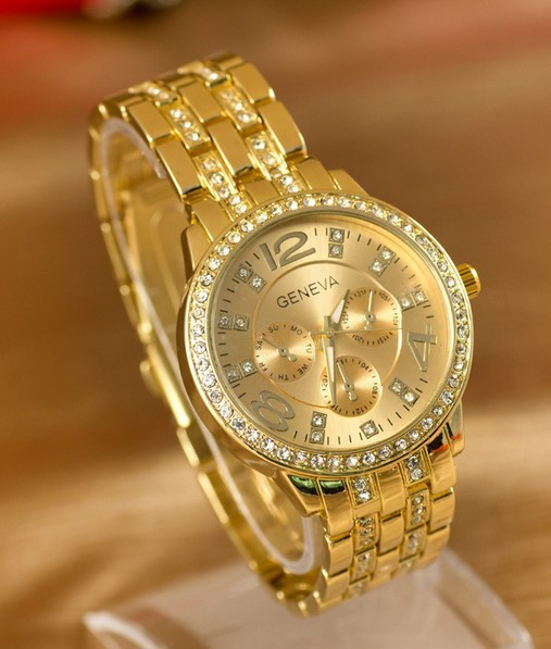 New Arrivals Senior quartz Movement Ms. watches ! 100%High quality Alloy Inlay Rhinestones watches,Free shipping Factory Direct(China (Mainland))
