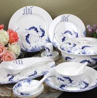 56 bone china dinnerware set ceramic bowl porcelain gift