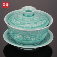 Celadon lansdowne tureen kung fu tea celadon tureen teapot tea set cup