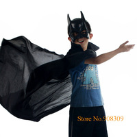 Free Shipping Super Cool Batman Costumes (cloak + mask) for adult and kids, Masquerade party Halloween costumes, Anime Outfit