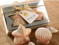 Wholesale Free Shipping 200Pieces=100Sets/Lot  Ceramic Sea Shells Salt & Pepper Shaker Wedding Favor Gift