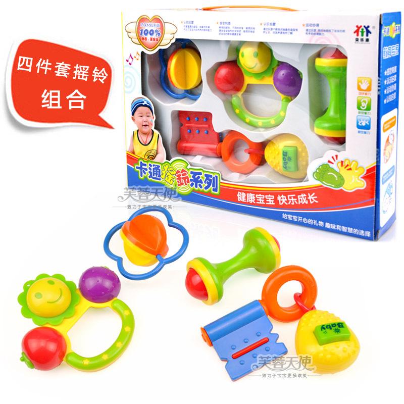 Cartoon 8311 yakuchinone rattles, gift box set 4 baby 0.25(China (Mainland))