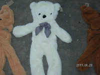 Wholesale Factory price 2013 Valentine's Day Gift SIZE 120cm skins empty 3COLOR Teddy bear plush toys coat Hot