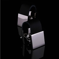 New arrival  black leather chain men's cufflinks French shirt cuff links   free shipping