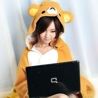Rilakkuma shawls, chinchillas tanuki house people shawl / cape / cloak / air conditioning blanket free shipping