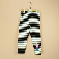 Free shipping children clothing girl peppa pig pants leggings Black and white stripes