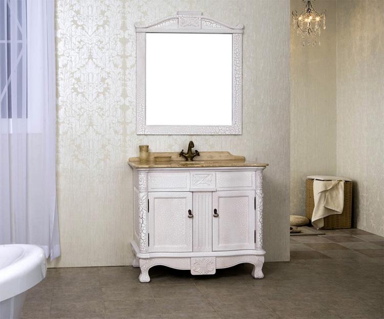 Online kopen wholesale klassieke badkamer wastafelmeubel uit china klassieke badkamer - Antieke stijl badkamer kast ...