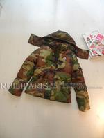 Fashion design Camouflage short down coat vest two ways female