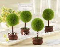 Factory directly sale 50pcs/lot Wedding favor Topiary Photo Holder/Place Card Holder