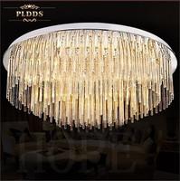 Diameter 900mm Crystal  ceiling  light  3 segment  E 14 with 18 light