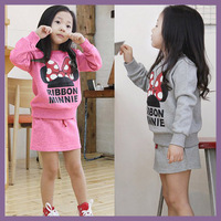 Retail 01-007 new 2013  mickey baby girl sports clothing set for girls girls wear children garment sport suit girl