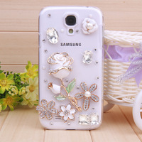 crystal bling diamond rhinestone pmobile cell phone case cover for samsung Galaxy s4 i9500 case, Free Shipping,