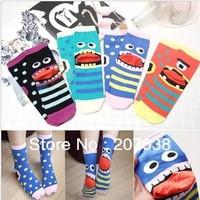 Cute cartoon monsters socks autumn summer women fashion socks 10pair/lot Free Shipping