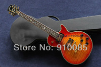 Best Price Custom Shop Cherry Electric Guitar with Flowers Inlay on Fretsboard Free Shipping with Hard Case