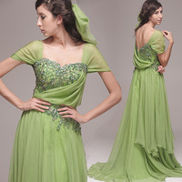 Green elegant bag embroidered diamond bride the banquet evening dress 2013 welcome costume