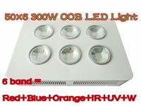 BridgeLux  6 band red+blue+orange+white+ IR+UV 300W G3 PRO SERIES 6*50W COB LED grow Light    2 years Warranty 120 angle