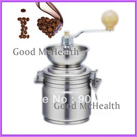 -=< Retail >=- Stainless Steel Manual Hand Coffee Mill Container Capacity 500ML (17 oz) with Adjustable Grind Free Shipping