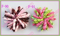 "free shipping 500pcs 4"" korker hair bows (SEW ones) korker hair clips boutique corker hair clips"
